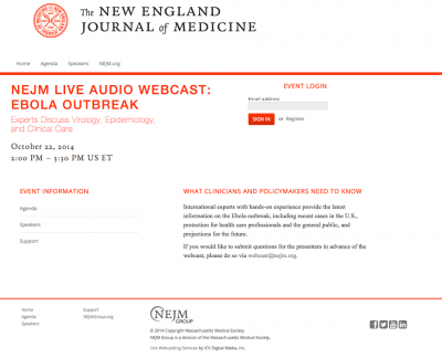 Live Webcasting Services for New England Journal of Medicine