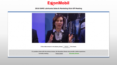 Live Webcasting in Brussels for ExxonMobil