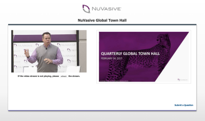 Live Webcasting Services in San Diego for Nuvasive.