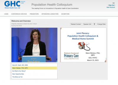 Watch Population Health Webcasts