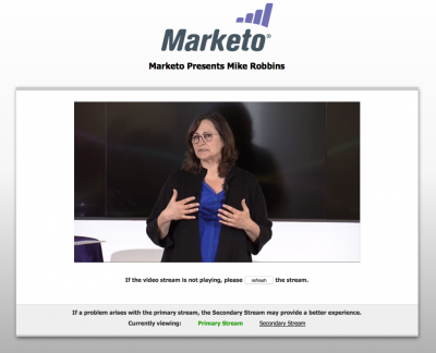 Live webcasting services for Marketo and Fireeye