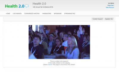 Live Webcasting at Health 2.0 in Santa Clara