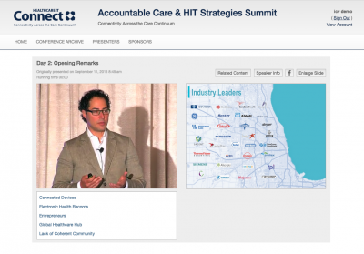 Live Webcasting for Accountable Care IT Conference in Chicago