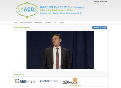 Live Webcasting in Washington DC for the NAACOS Conference