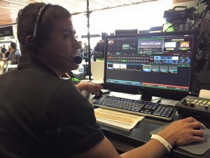 Webcasting live event using a Tricaster at VMworld ICV