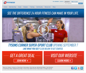 24 hour fitness screen