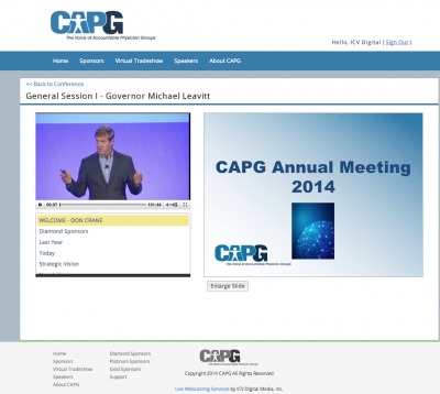 Live Webcasting Services for Healthcare – CAPG