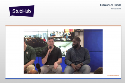 Streaming Live for StubHub in San Francisco